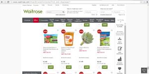 A screenshot from the Waitrose.com website.